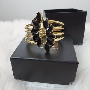 INC International Concepts Gold Tone Crystal Leaf